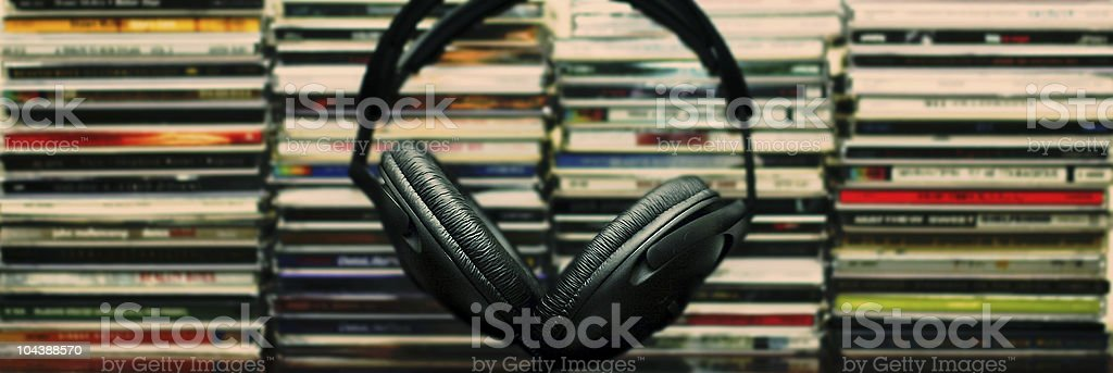 stacked music stock photo