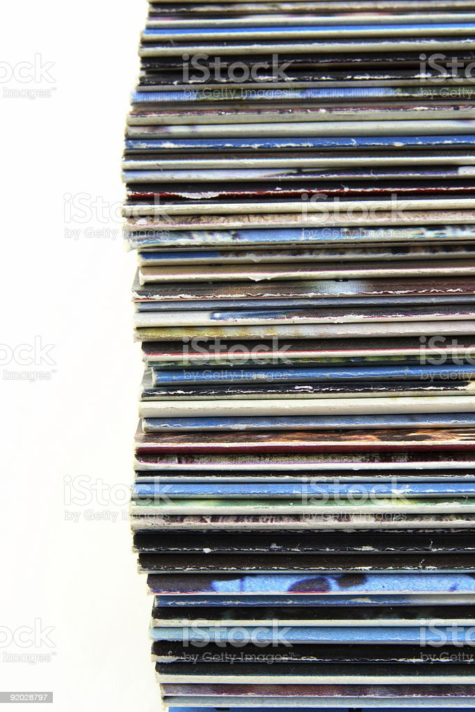 Stacked old magazines royalty-free stock photo