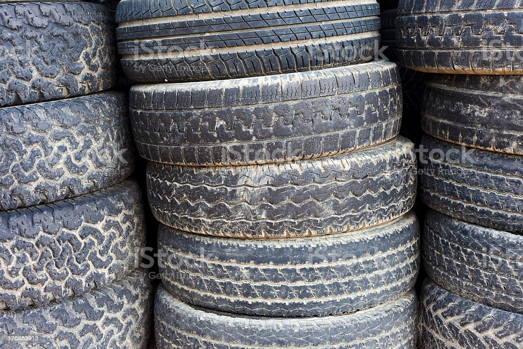 Stacked old tires background royalty-free stock photo