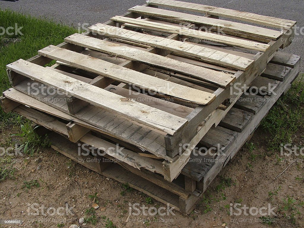 Stacked Pallets-2 royalty-free stock photo