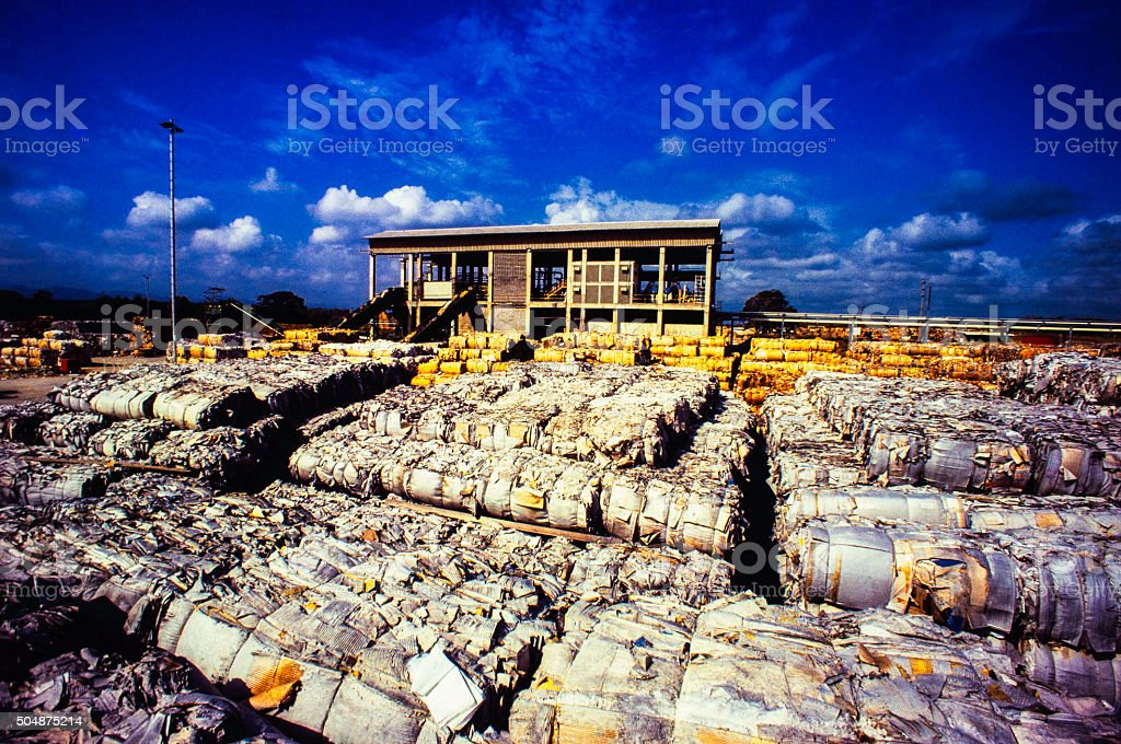 Stacked paper cubes stock photo