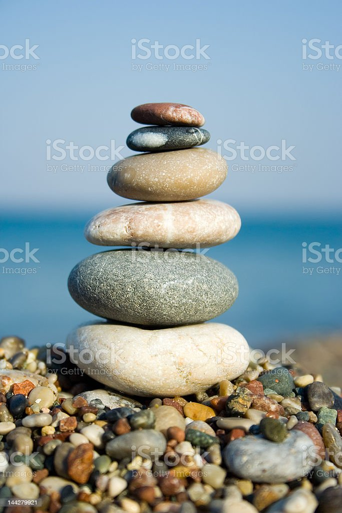Stacked pebbles royalty-free stock photo