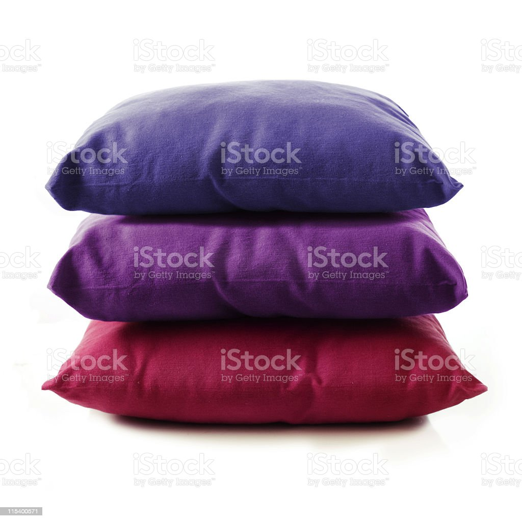 stacked pillows royalty-free stock photo