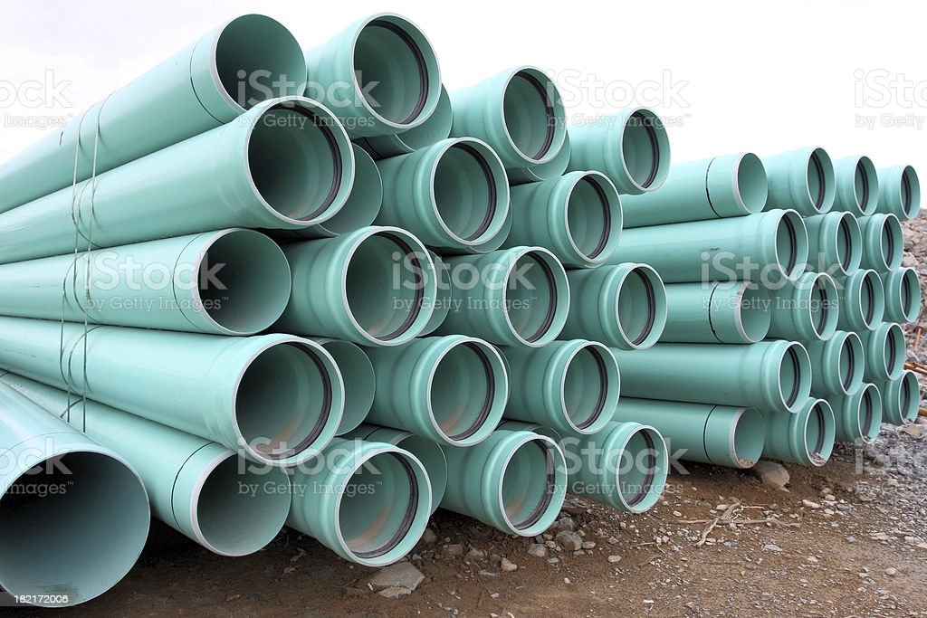 Stacked Pipe stock photo