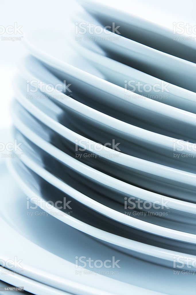 Stacked plates royalty-free stock photo