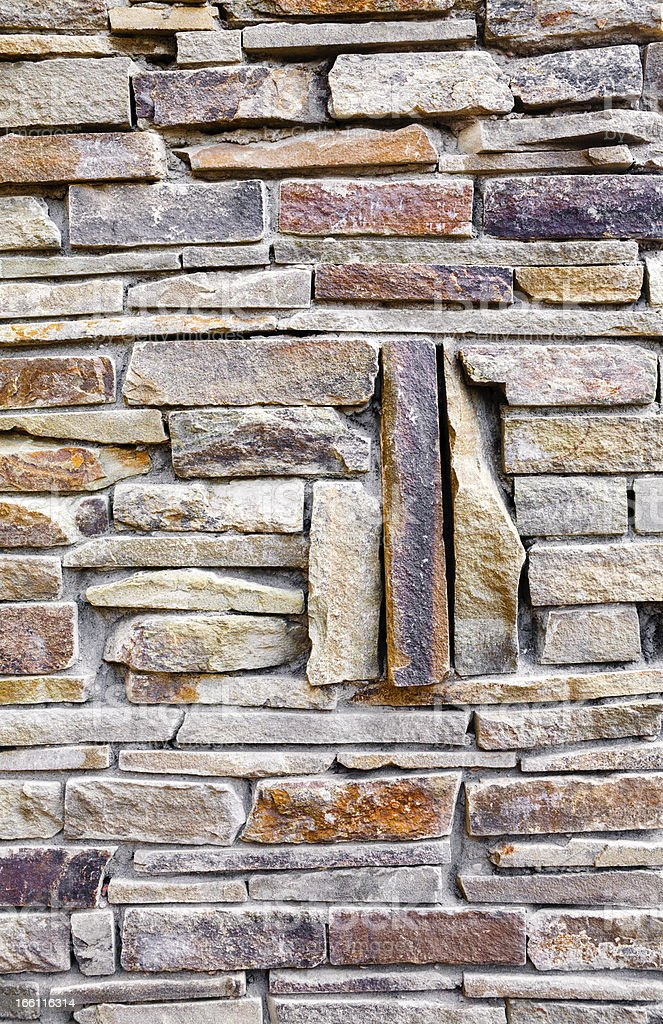 Stacked rock wall royalty-free stock photo