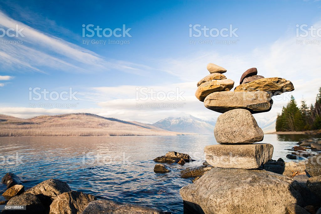 Stacked Rocks stock photo