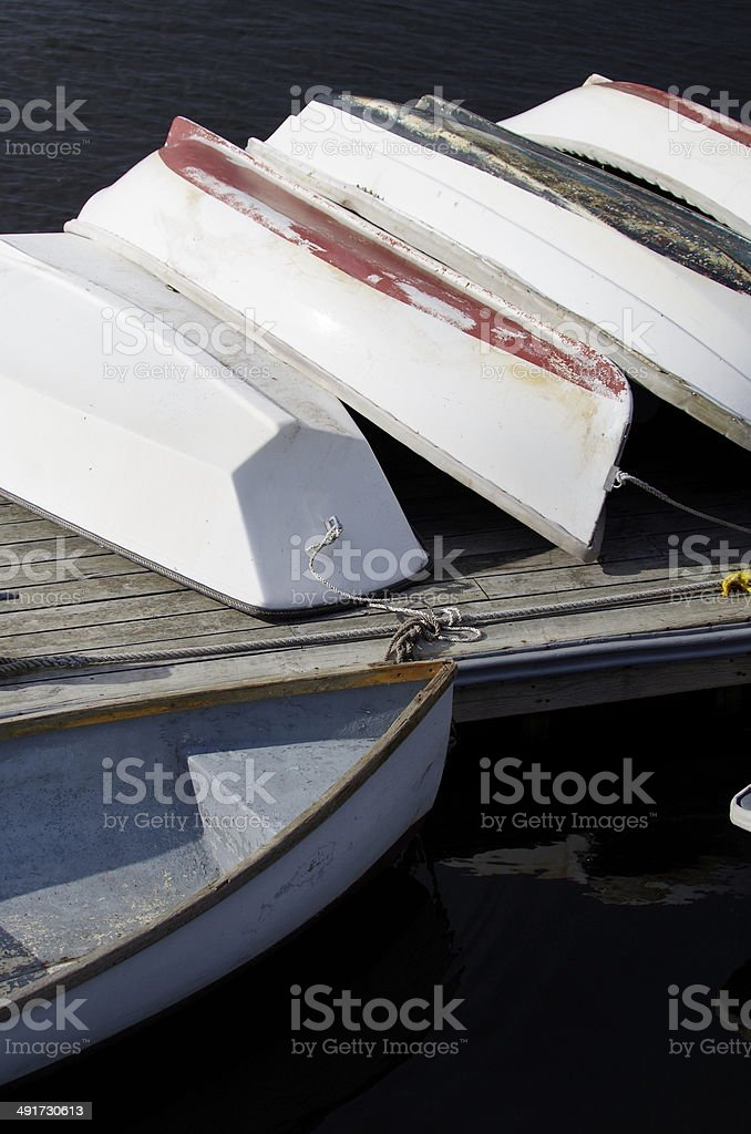 Stacked - Rowboats stock photo