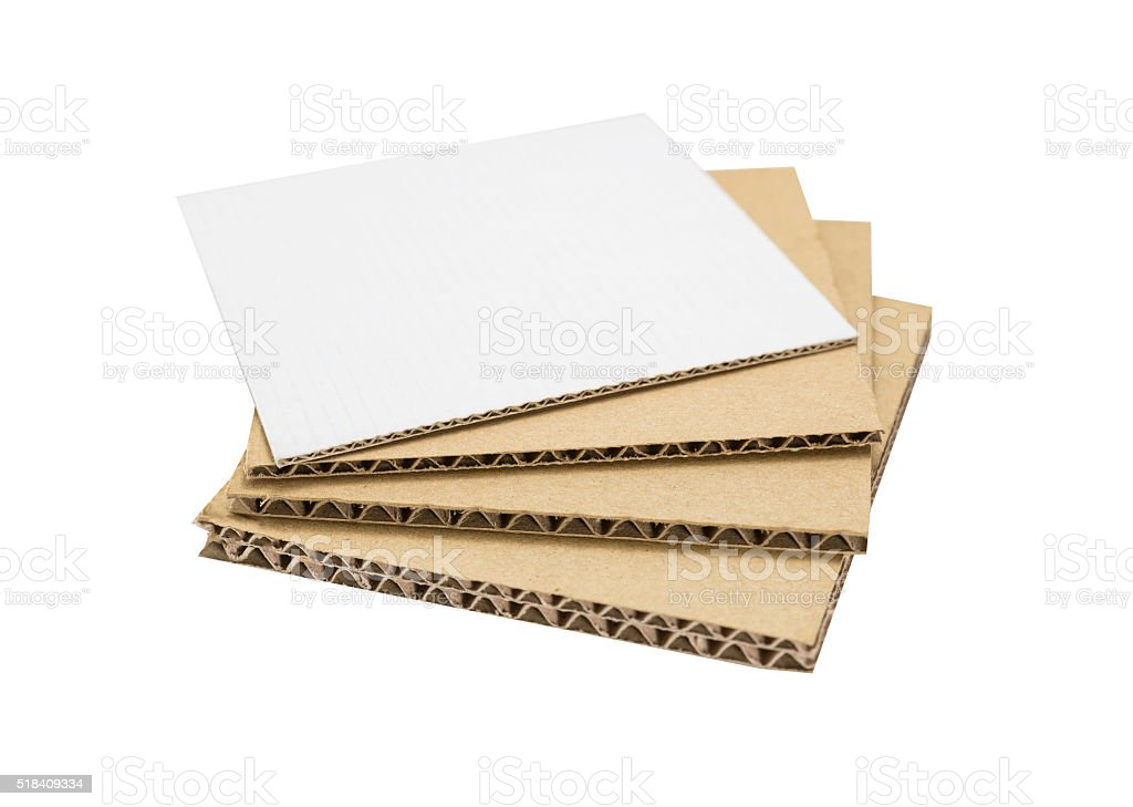 stacked sample corrugated paper board stock photo