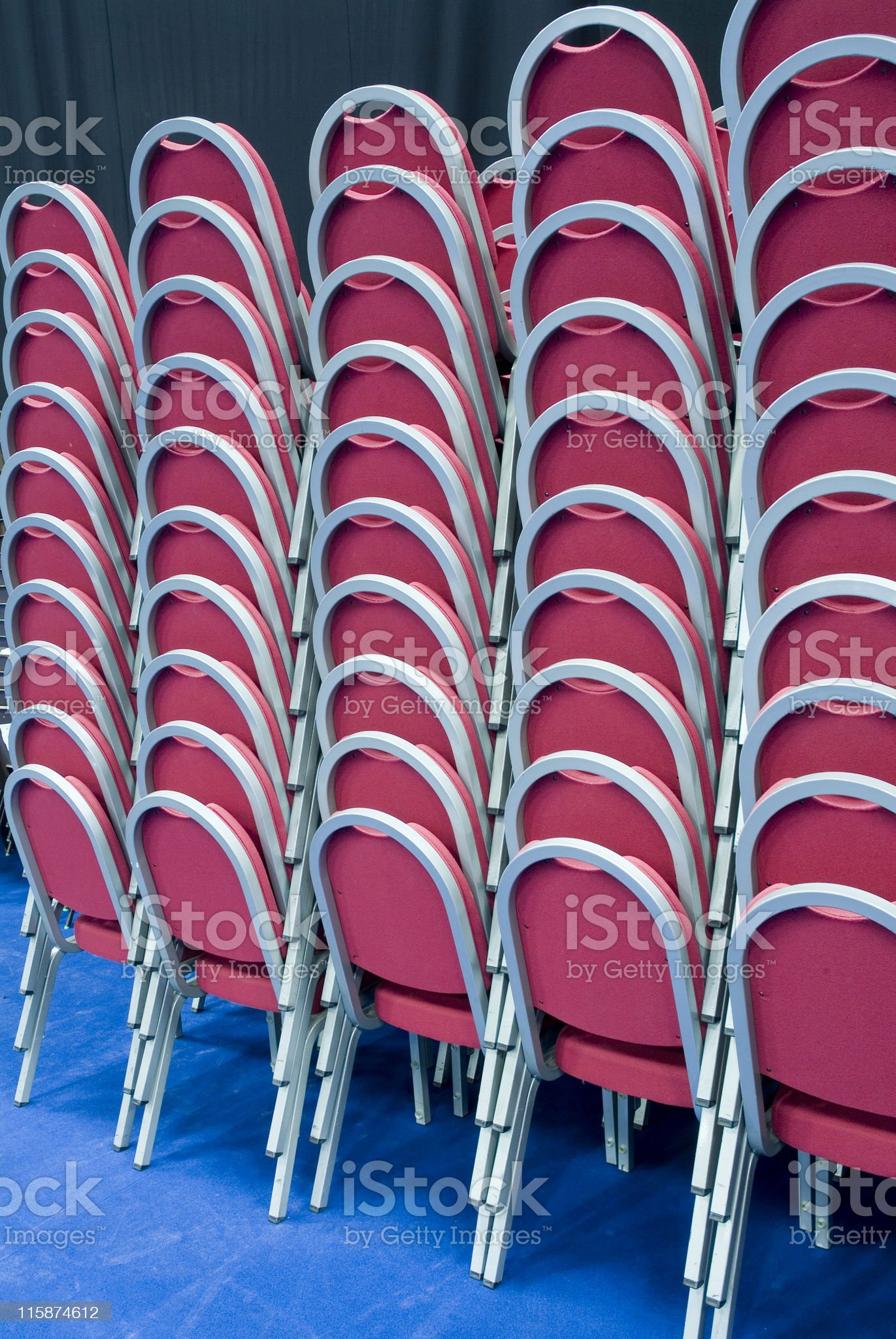 Stacked seating at a venue royalty-free stock photo