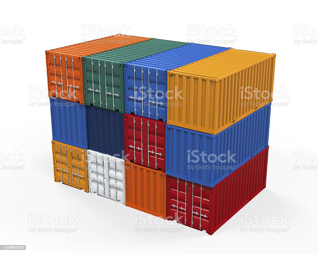 Stacked Shipping Container royalty-free stock photo