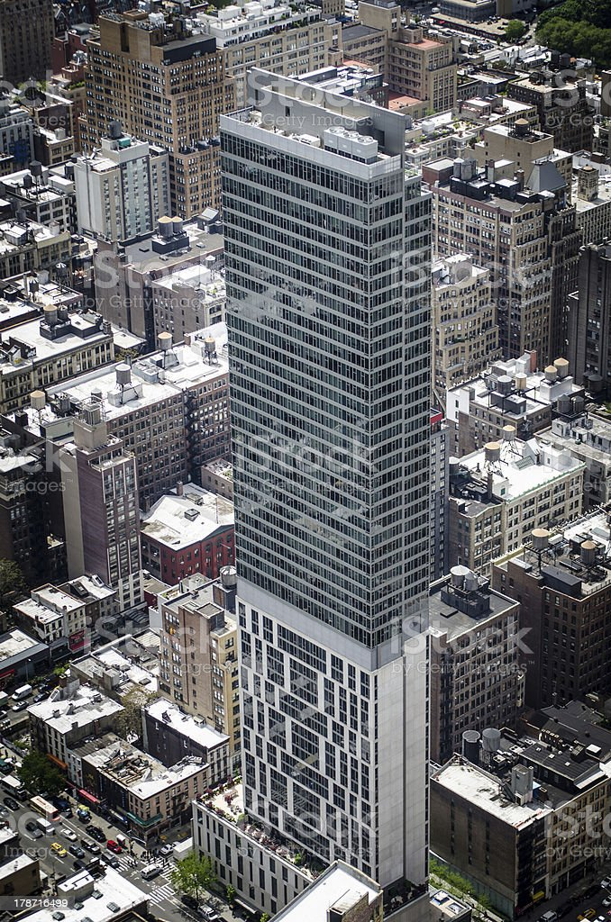 Stacked Skyscraper in New York City royalty-free stock photo