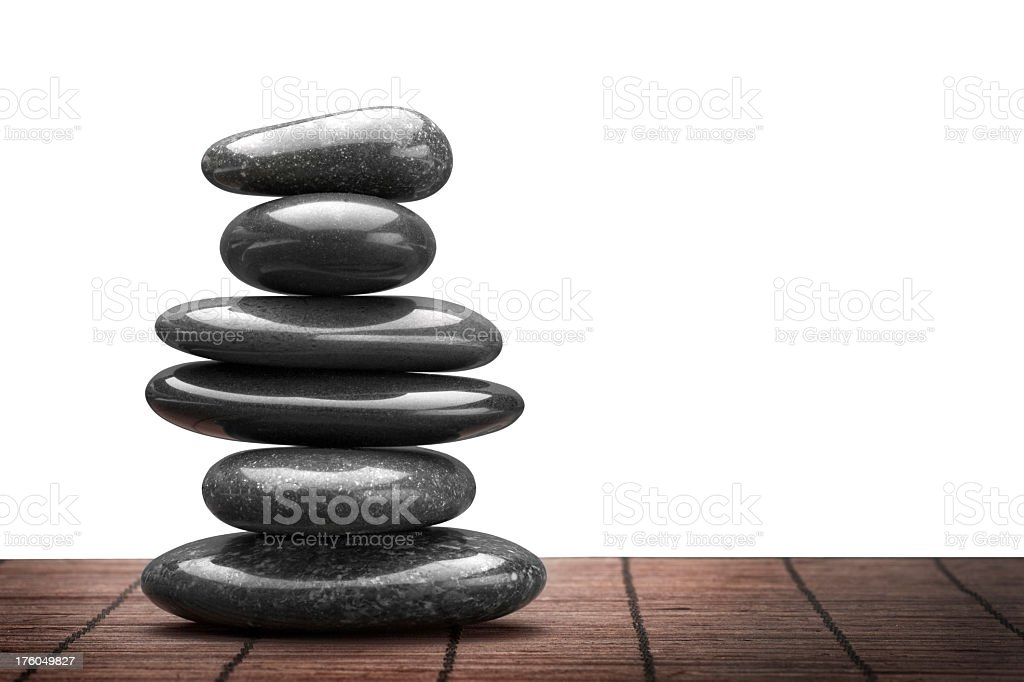 Stacked Spa Stones royalty-free stock photo