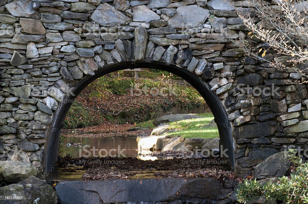 Stacked Stone Bridge stock photo