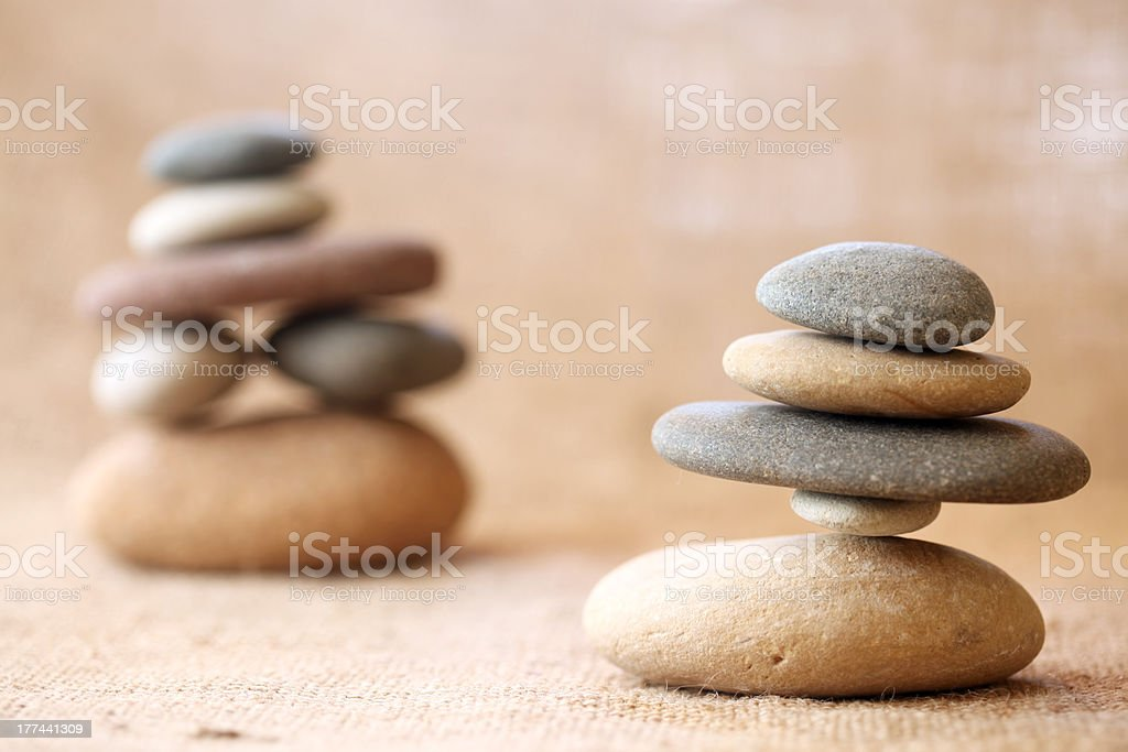 Stacked stones royalty-free stock photo