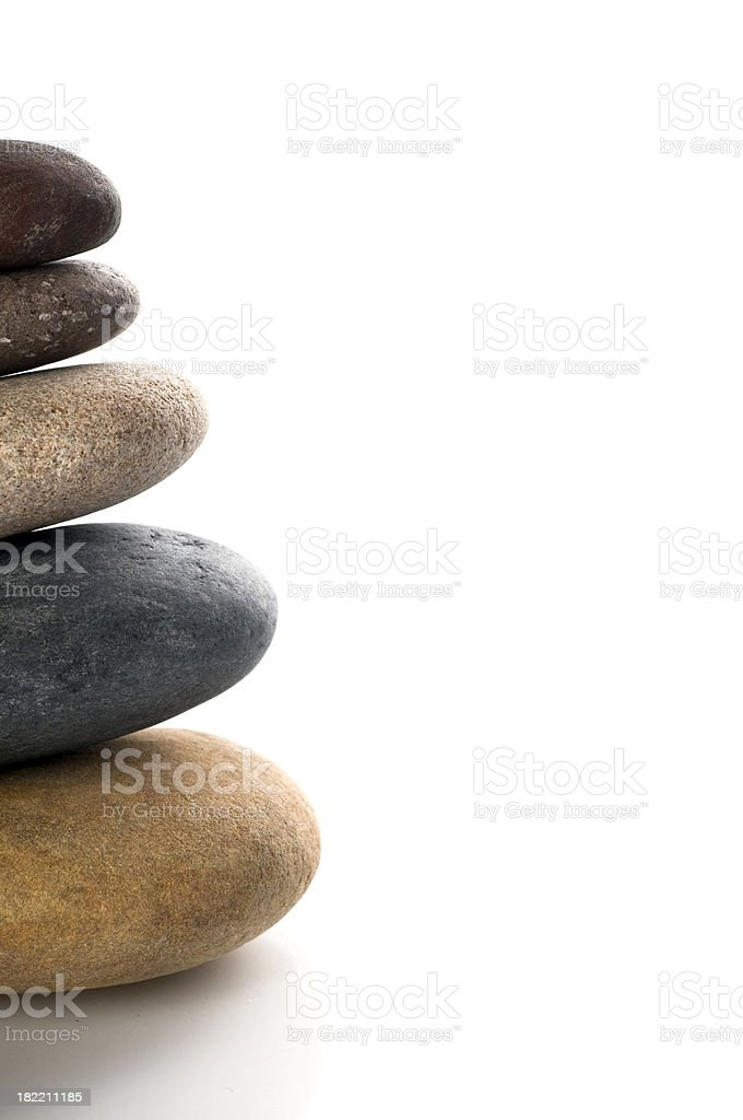 Stacked stones royalty-free stock photo