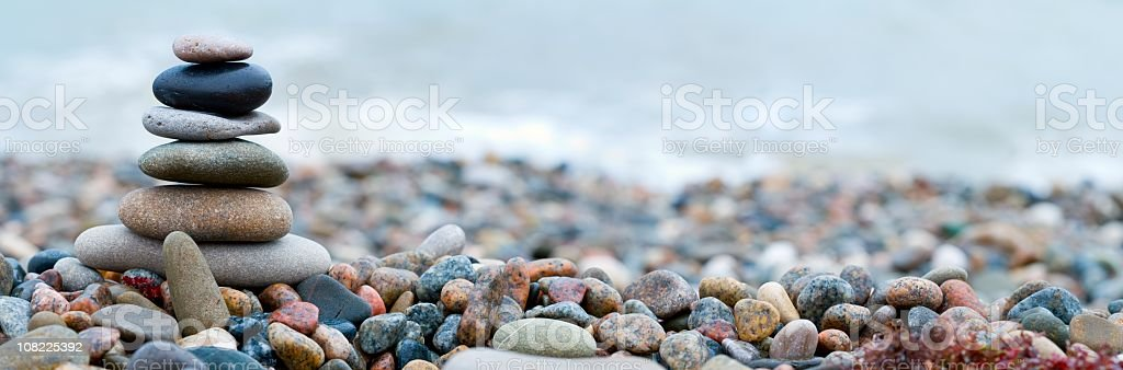Stacked stones with beautiful arrangement of colors  stock photo