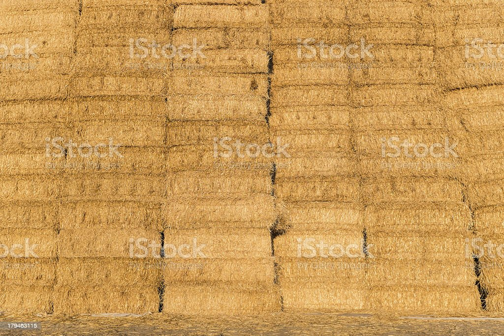 Stacked straw bales royalty-free stock photo
