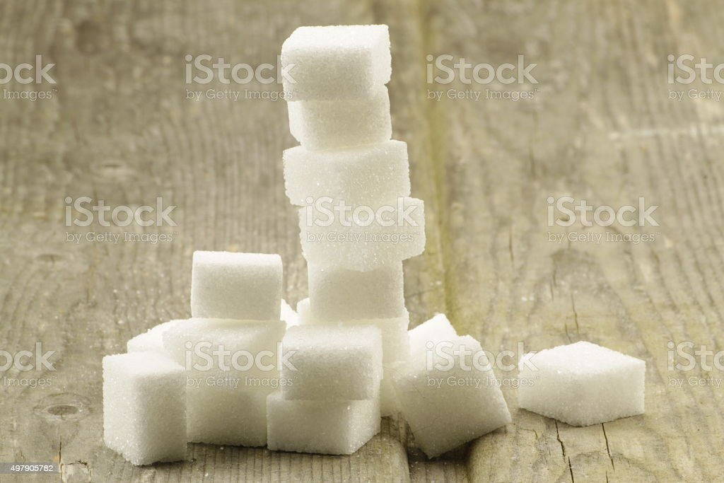 Stacked sugar cubes stock photo