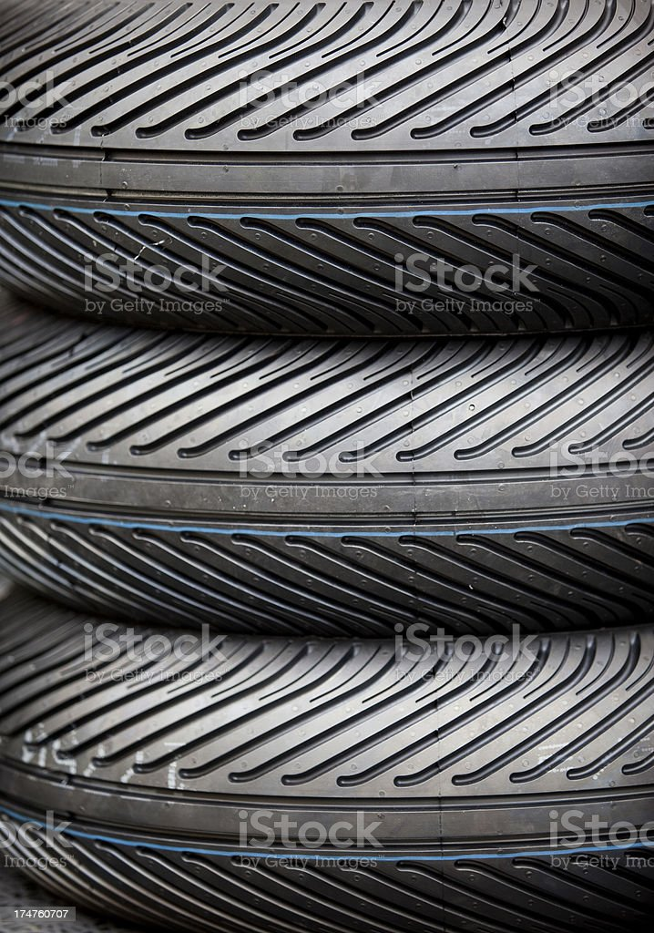 Stacked tires royalty-free stock photo