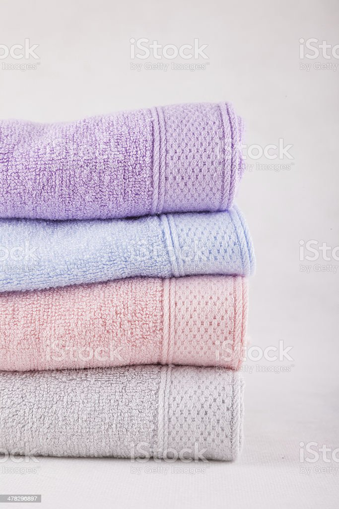stacked towel royalty-free stock photo