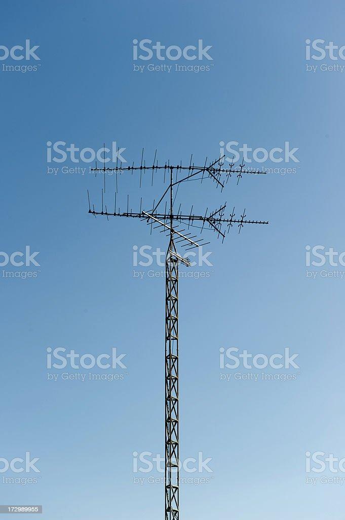Stacked TV Antennas stock photo
