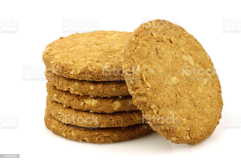 stacked  wholemeal cookies royalty-free stock photo