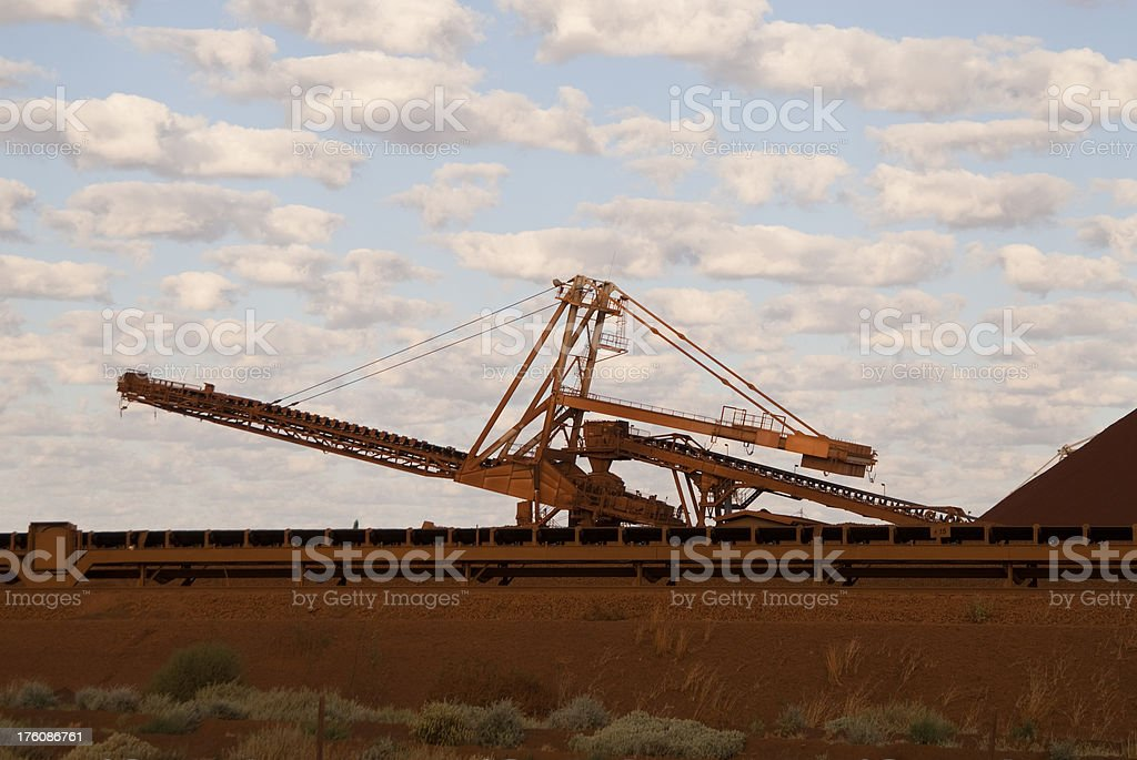 stacker on iron ore side royalty-free stock photo
