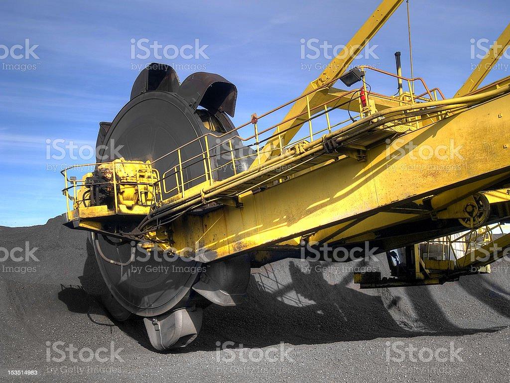 Stacker reclaimer stock photo