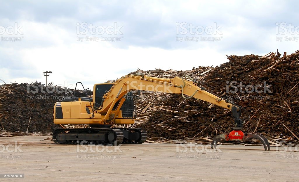 stackers or Timber / scrap crane. stock photo