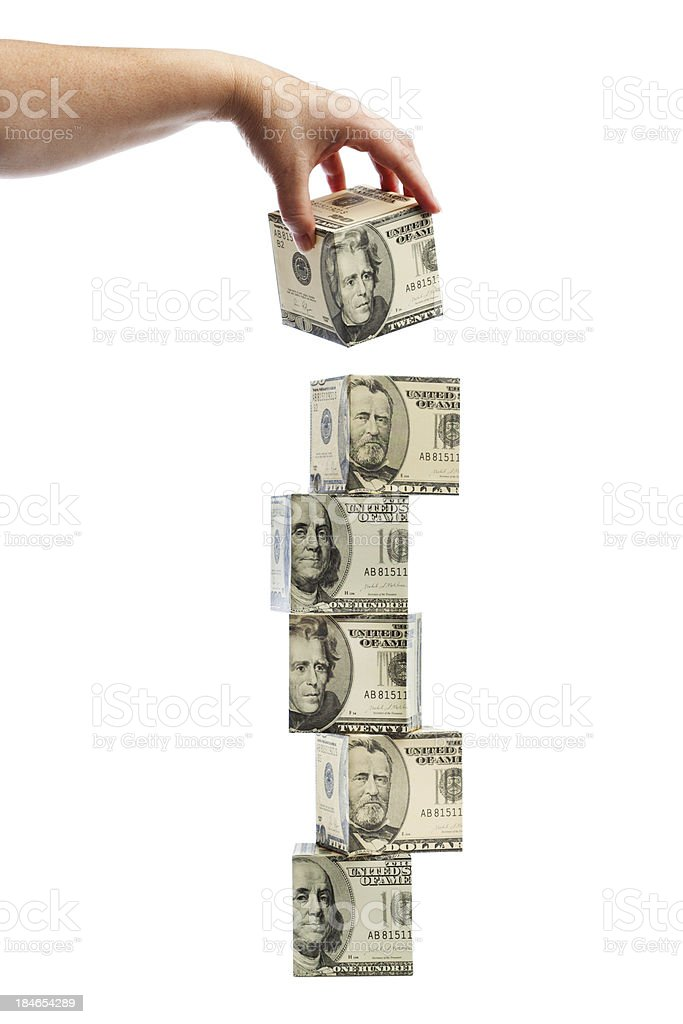 Stacking Money- Risk Management in Investment and Monetary Policy royalty-free stock photo