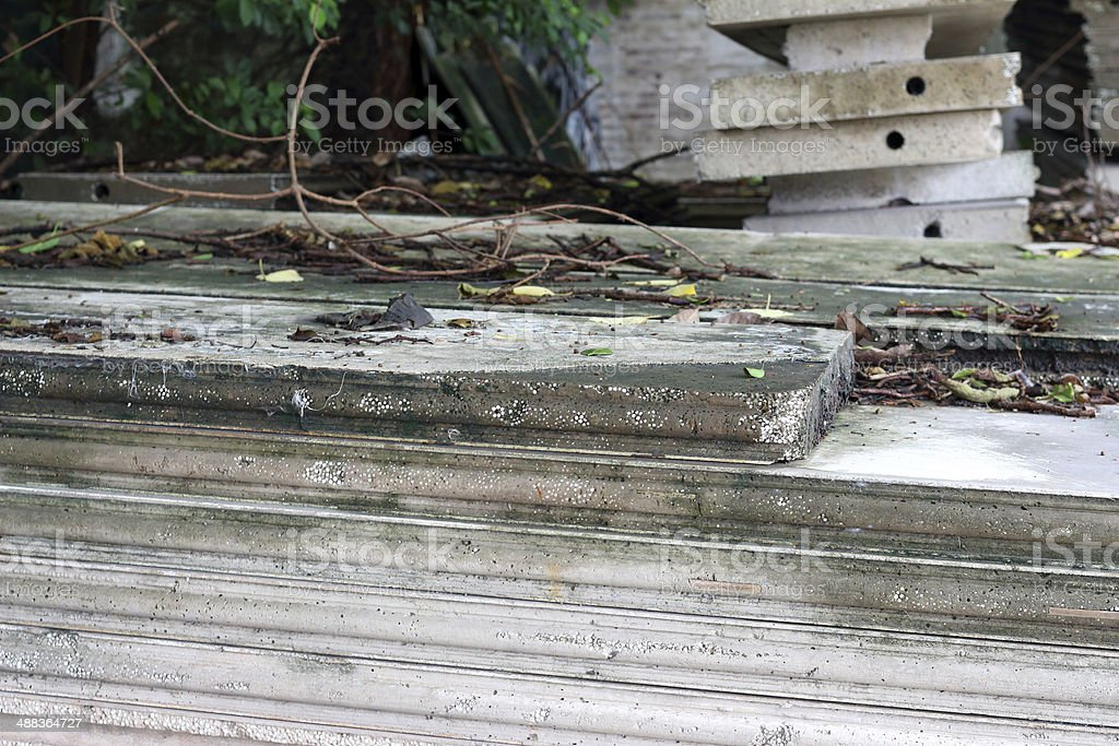 Stacking of building materials royalty-free stock photo