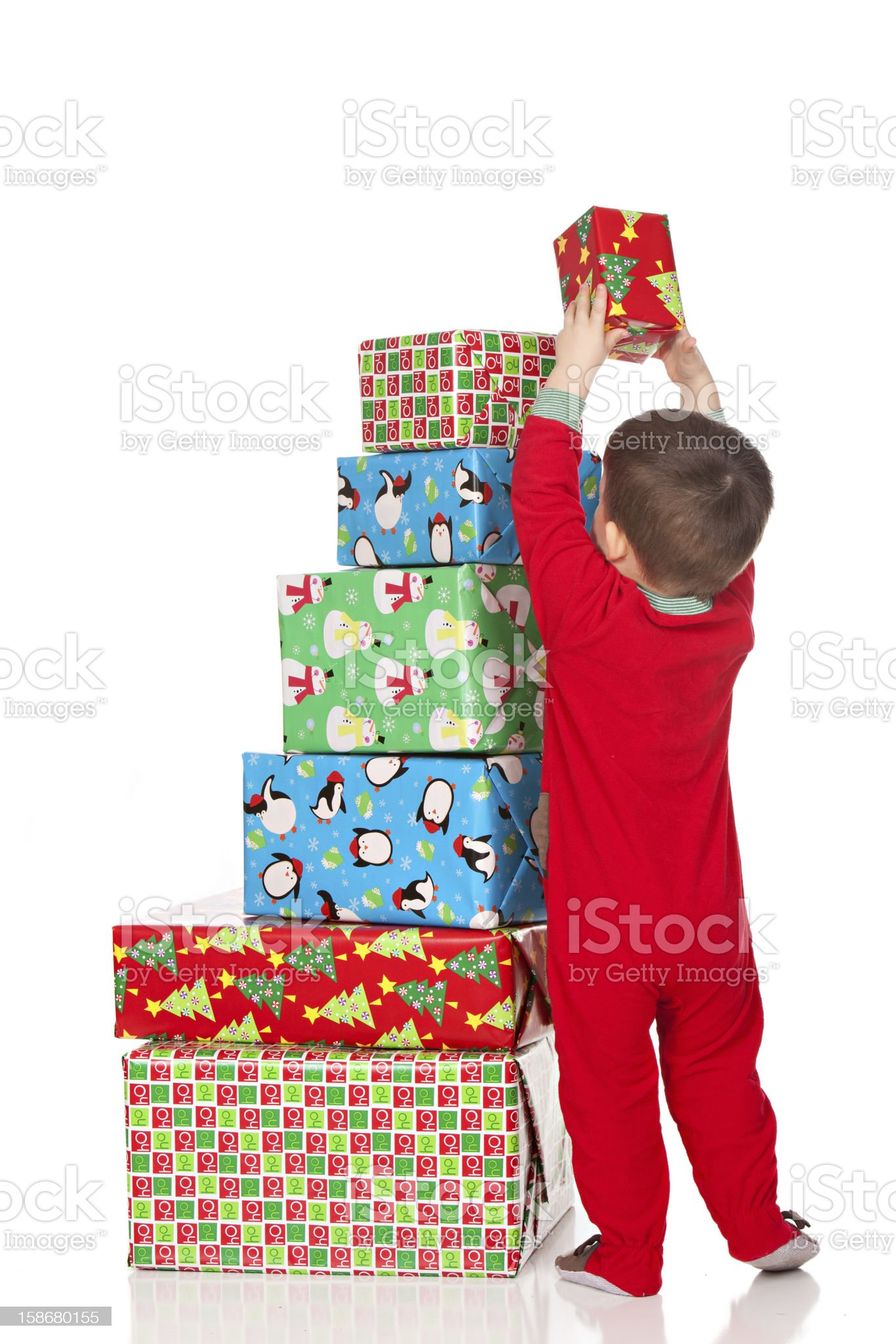 Stacking Presents royalty-free stock photo