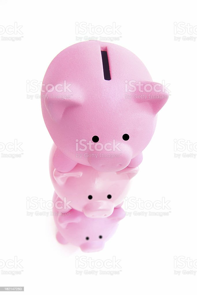 Stacking up the Finances royalty-free stock photo