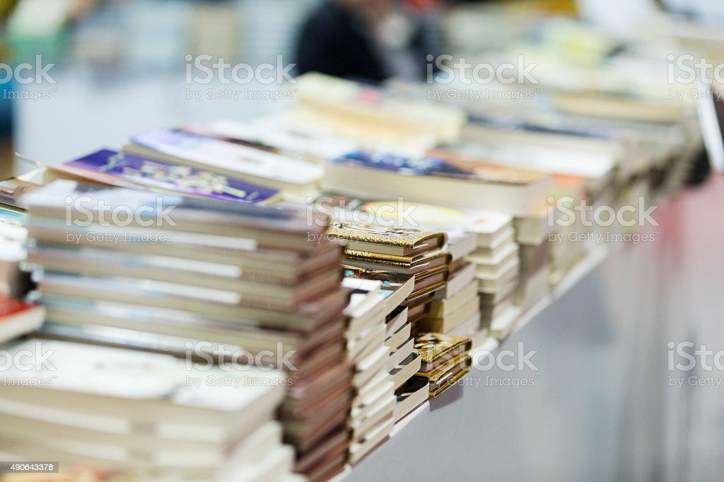 Stacks of books stock photo