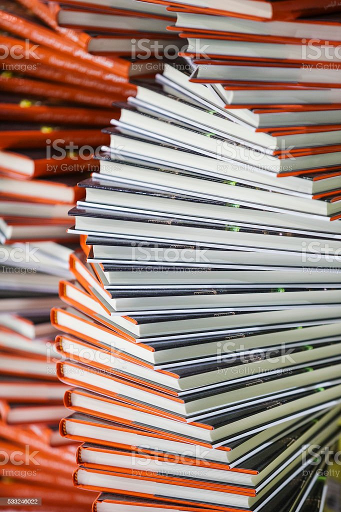 Stacks of books stock photo