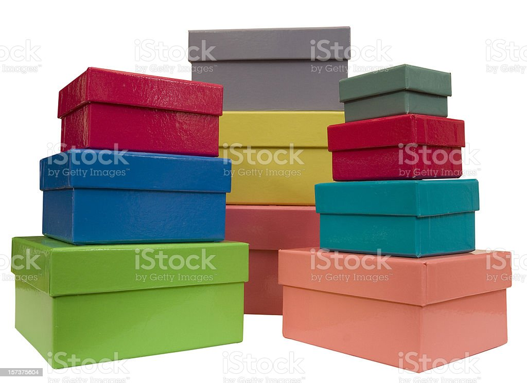 Stacks of boxes stock photo
