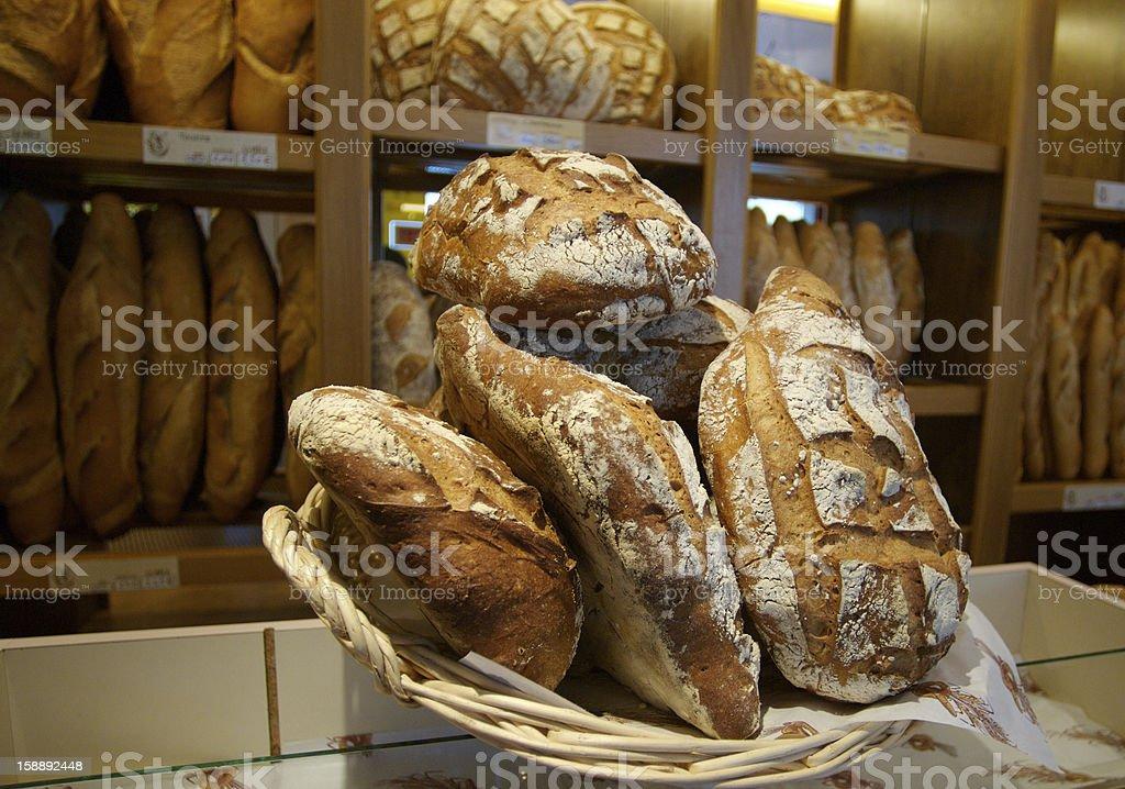 Stacks of bread royalty-free stock photo