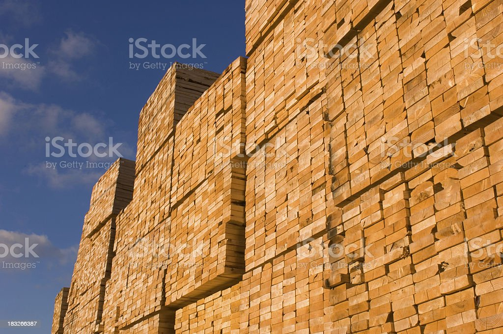 Stacks of Building Lumber royalty-free stock photo