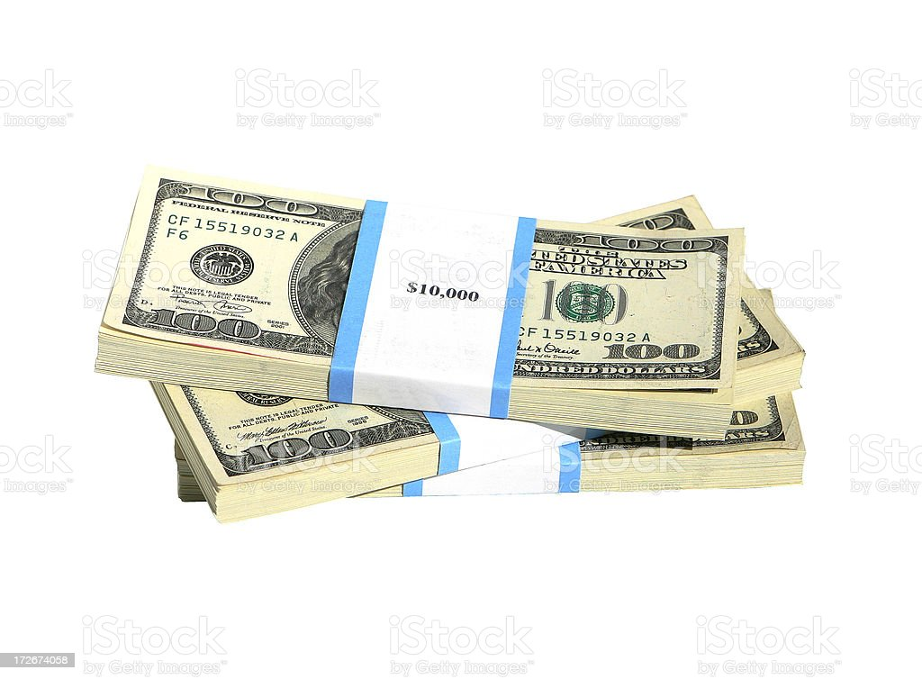 Stacks of Cash royalty-free stock photo