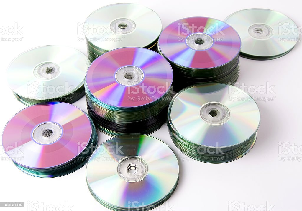 Stacks of cds royalty-free stock photo