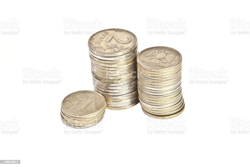 Stacks of coins royalty-free stock photo