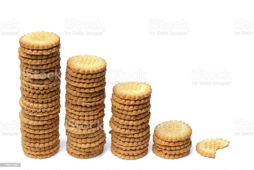 Stacks of cookies royalty-free stock photo