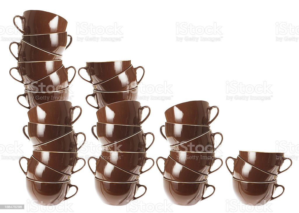 Stacks of Cups royalty-free stock photo