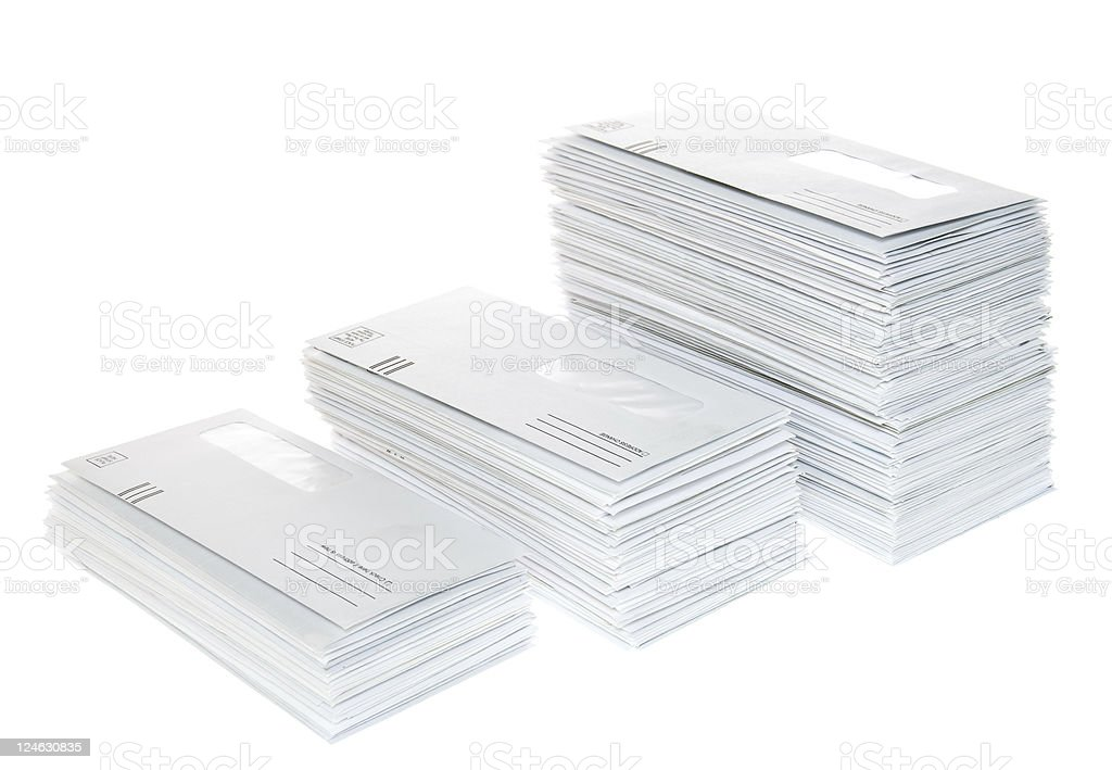 Stacks of  Envelopes stock photo
