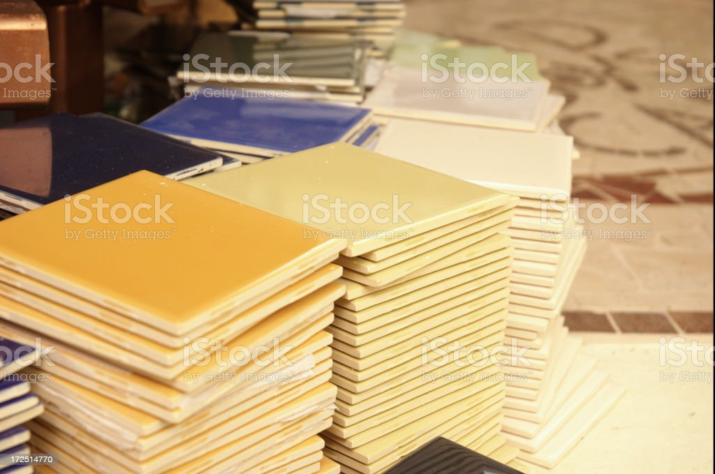 Stacks of Floor Tiles royalty-free stock photo