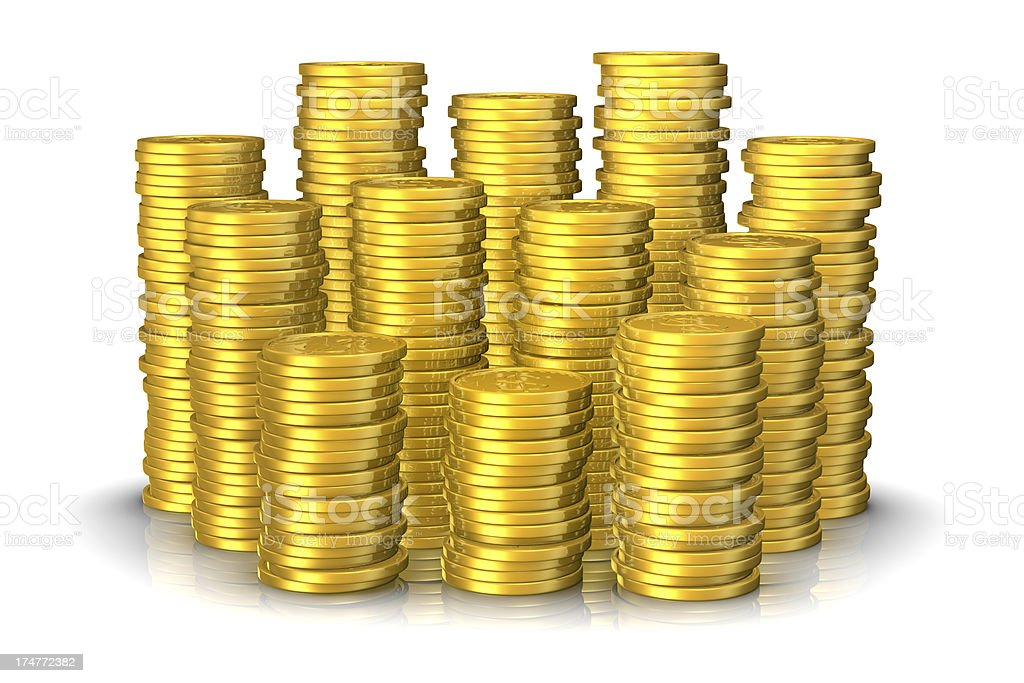 Stacks of Gold royalty-free stock photo