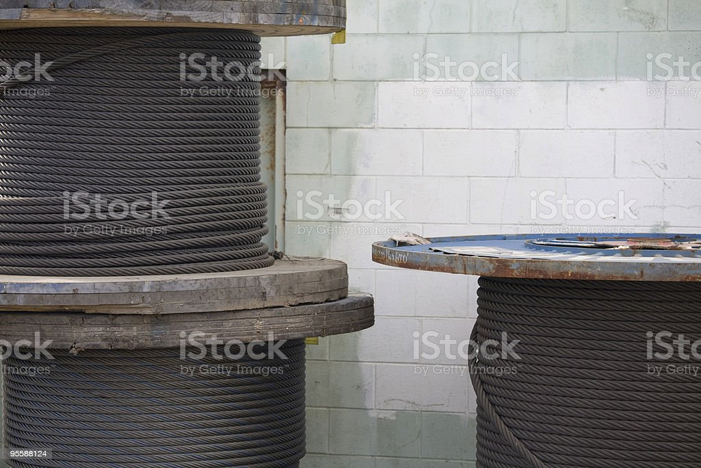 Stacks of industrial cable and rope royalty-free stock photo