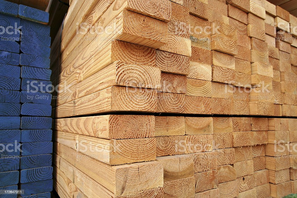 Stacks of Lumber royalty-free stock photo