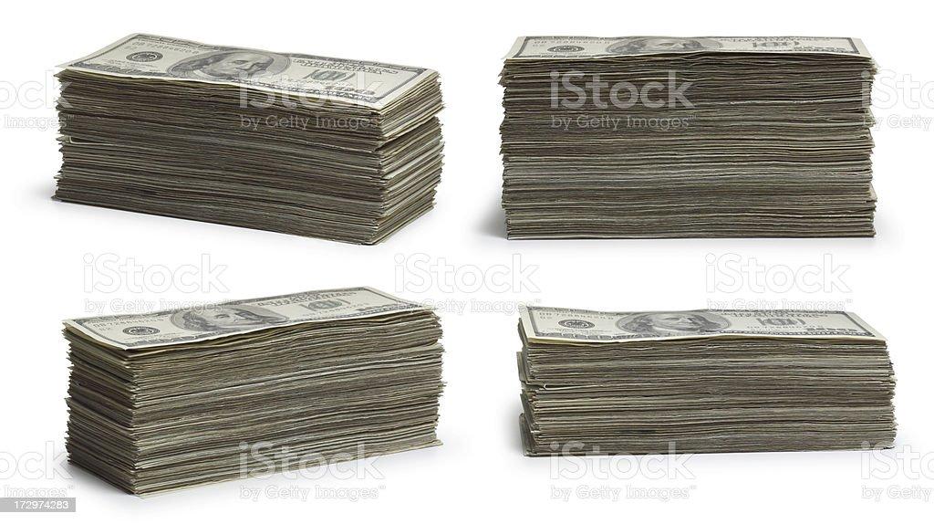 Stacks of Money royalty-free stock photo
